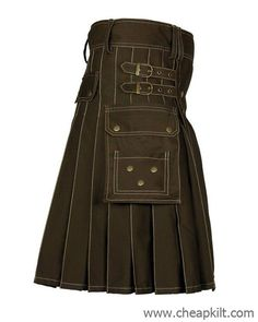 A fashion Brown utility kilt for active men made from cotton fabric perfectly suitable for active men designed and stitched by talented tailors, for comfort and style. kilts for sale, kilts for men Scottish Man, Scottish Kilts, Cheap Kilts, Kilt Shop, Kilt Hire, Kilts For Sale, Utility Kilt, Work Belt, Color Rush