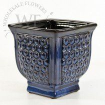 Buy Large Blue Textured Ceramic Planter at the best wholesale prices. Check this and more Ceramic & Clay Containers for cheap & with national shipping. Ceramic Flower Pots, Ceramic Planters, Ceramic Clay, Wholesale Flowers And Supplies, Wholesale Vases, Tent Decorations, Container, Ceramics, Blue