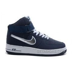 official photos da0e7 4a162 Nike Air Ce 1 Mid Navy Silver White Shoes For Sale Nike Air Force, Adidas