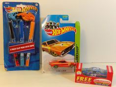 Hot Wheels 73 Ford Falcon Die Cast Car, Hot Wheels Clip Pens And NASCAR Bayer #33 Die Cast Car. View pictures for details.   eBay!