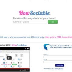 Sistema de mensuração de visibilidade de marcas em mídias sociais.    Acesse: http://www.howsociable.com/