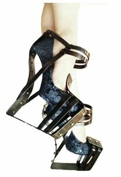 Jonathan Leslie James Charlesworth. Love these unusual shoes, metal heelless wedges