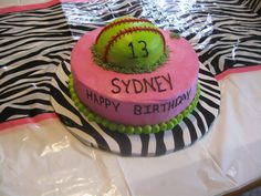 SOFTBALL BIRTHDAY thinking this will maria's or Alan's next birthday cake haha