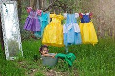 Disney princess little girl photo shoot. Ariel