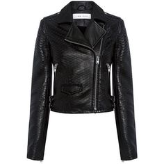 Iro.jeans - Memphis Leather Biker Jacket (€575) ❤ liked on Polyvore featuring outerwear, jackets, coats, leather jacket, real leather jackets, cropped biker jacket, rider leather jacket, asymmetrical jackets and iro jacket