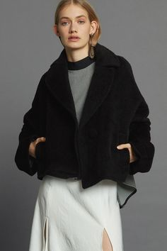 Covet Coat - Black Llama Minimal Beauty, Aw17, Winter White, Luxury Fashion, Dressing, Normcore, The Incredibles, Coat, Collection