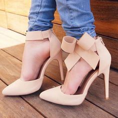 Bow Accent Ankle Strappy Pointy Heels