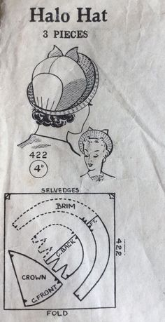 Шляпки - #20s #Шляпки Vintage Sewing Patterns, Doll Patterns, Diy Couture Mode, Diy Vintage, Hat Tutorial, Millinery Hats, Fancy Hats, Pattern Cutting, Hat Making