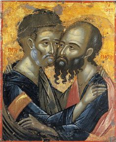 Sunday Reflection with Fr Robin Gibbons: Feast of SS Peter and Paul - Independent Catholic News Orthodox Catholic, Catholic News, Catholic Saints, Orthodox Christianity, Religious Images, Religious Icons, Religious Art, Byzantine Art, Byzantine Icons