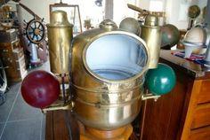 Compas sur fut  Anglais double lanterne 1940