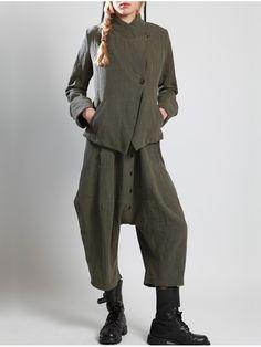Thick Linen Blazer by LURDES BERGADA