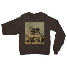 Earl, Maud (1864-1943) - The Power of the Dog 1910 (Miniature Bulldog) Heavy Blend Crew Neck Sweatshirt