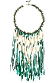 Shop for Elias tasseled suede necklace by Antik Batik at ShopStyle. Beaded Earrings, Beaded Jewelry, Handmade Jewelry, Jewellery, Bohemian Jewelry, Jewelry Necklaces, Coachella, Metal Chain, Turquoise Necklace