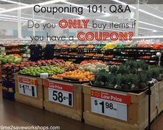 Couponing 101: Do You Only Buy Items If You Have A Coupon? #coupon #couponing #frugal