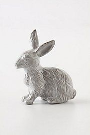 Bunny Drawer Knob from Anthropologie - for the girls' room, in case they let me keep the Velveteen Rabbit theme in there a bit longer