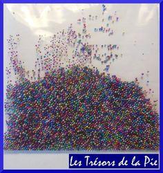 PERLES MICRO BILLES 3D ONGLES - Nail art - MANUCURE CAVIAR - Multicolore