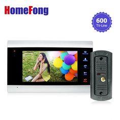 check price homefong 7 inch color lcd video door phone intercom system door release unlock color #video #door #phone