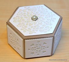 Hello, Crafters. Yesterday evening I had my follow up appointm ent with my consultant and the good news is that he hasn't found anything ... 3d Templates, Hexagon Box, Bazaar Ideas, Card Boxes, Gift Boxes, Window Shopping, Box Packaging, Anniversary Cards, Stampin Up