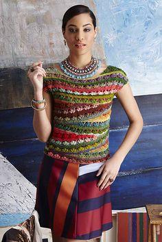 Ravelry: #21 Ballet-Neck Tee pattern by Linda Skuja #Crochet