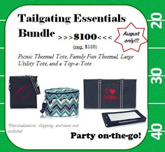 Are you ready for some FOOTBALL?!? Check out this awesome tailgating bundle from Thirty-One. Contact me for details on how to get this amazing price and products! #tailgating #thirtyone