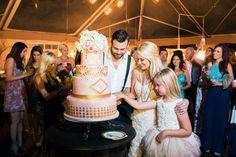 #cake-cutting  Photography: Corbin Gurkin Photography - corbingurkin.com  Read More: http://www.stylemepretty.com/2014/09/22/emily-maynards-surprise-wedding-to-tyler-johnson/
