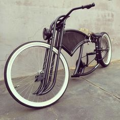 wicked fork shapes on this one. ........ This bike looks cool! It will look cooler and safer if it has wheel lights. Check out our bike wheel lights at www.activ-life.com.activ-lites