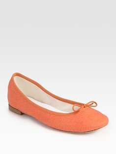 Repetto Stretchy Linen Bow Ballet Flats  $265