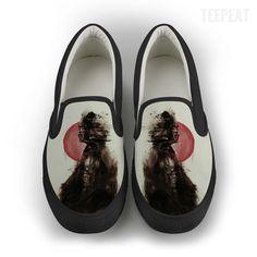 Vader Jap Smudge Women Slip-On Canvas Shoe #prints #prntable #painting #canvas #empireprints #teepeat
