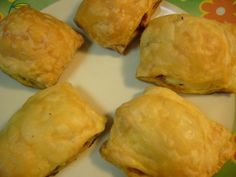 Cheese And Onion Pastries recipe. These delicious pastries are made with puff pastry with a filling of potatoes, cottage cheese and onions. The cottage cheese can be replaced with feta cheese, ricotta cheese etc.Vegetables can be replaced with minced beef or chicken. Posted by Nikki.