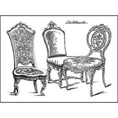 LaBlanche Silicone Stamp - 3.75X2.75 inches - Chairs
