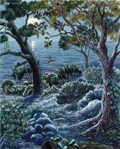 I colori di Conci- Conci's colours: Night by the sea-WWF panel