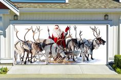 BEST SELLER Christmas Double Garage Door Cover Christmas
