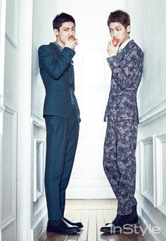 Boyfriend Kwang Min and Young Min - InStyle Magazine May Issue Korean Shows, Korean K Pop, Korean Wave, Boyfriend Kpop, Boyfriend Memes, Kwon Yool, Jo Youngmin, Brown Eyed Girls, Instyle Magazine