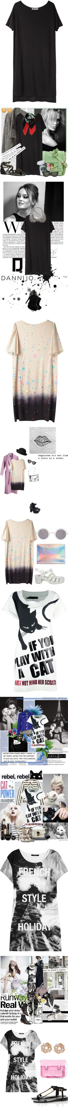 """""""Tee-riffic T-Shirt Dresses"""" by polyvore-editorial on Polyvore"""