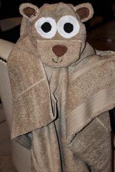 hooded towel, teddy bear hooded towel, how to make a hooded towel
