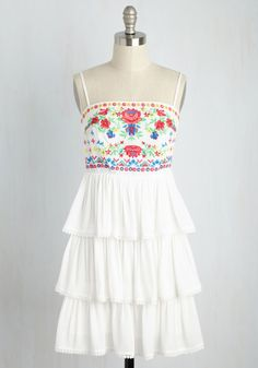 Whimsy and Be Seen Dress. Turn the tides by stepping onto the sidewalk in this white sundress. Short Sundress, Short Lace Dress, Short Dresses, Sun Dresses, Dress Lace, White A Line Dress, White Sleeveless Dress, White Sundress, Floral Sundress