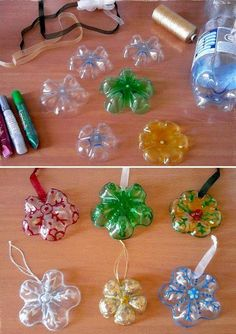 DIY Ornaments Made from Plastic Bottles.. | Christmas Special