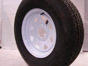 """13"""" White Spoke Trailer Wheel With Radial St175/80R13 Tire Mounted (5X4.5) Bolt Circle, 2015 Amazon Top Rated Trailer #AutomotivePartsandAccessories"""