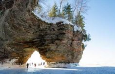 Head to the gorgeous Apostle Island National Park for winter beauty that you may... - Shutterstock