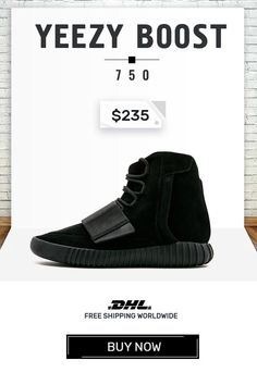 8e7b4776a Order mens size Adidas Yeezy Boost 750 Triple Black trainers