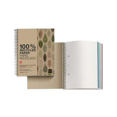 Miquelrius 2872 – Notebook 4 Recycled Cardboard ecojohas M (DIN 148 x 210 mm, 120 Sheets, 80 g/m², Grid) Miquel Rius Grid, Recycling, Notebook, Hacks, Organization, How To Plan, A5, Business, Oral Hygiene