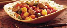 Delight family members by serving them sweet and sour chicken packed with vegetables with addition of pineapple chunks – a hearty slow-cooked dinner.