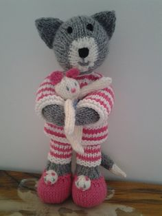 Cat and Mouse.  Debi Birkin design. Dressed Hand by BluebellKnits