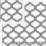 Salamanca cuban cement tile floor tiles in gray and white