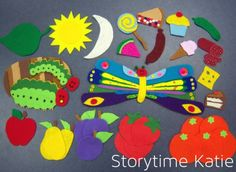 Storytime Katie-Pretty amazing Hungry Caterpillar flannel board!