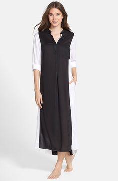 adf56eb3e7c DKNY Colorblock Long Sleeve Woven Caftan