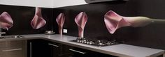 Our pimped kitchens section shows you our splashback designs in a finished kitchen: Almost a mural!