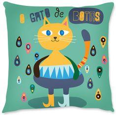 Capa para almofada Gato de Botas - Lar da Vila | Tanlup