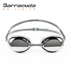 Barracuda Swim Goggle BOLT MIRROR – Split Mirror Lenses Patented TriFushion System, Anti-fog UV Protection, Easy adjusting Comfortable No leaking, Competition Racing for Adults Men Women #90210
