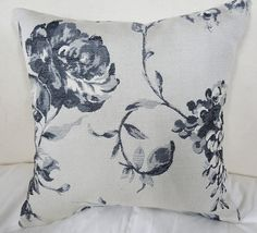 Thundersley Home Essentials - Floral Boudoir Pillow, Black And Grey, $25.99 (http://frenchcountryfurnitureusa.com/floral-boudoir-pillow-black-and-grey/)